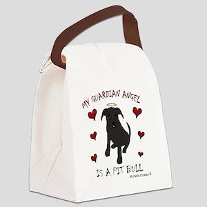 PitBullBlk Canvas Lunch Bag