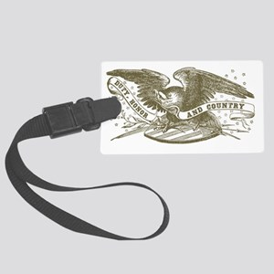 duty-honor-country Large Luggage Tag