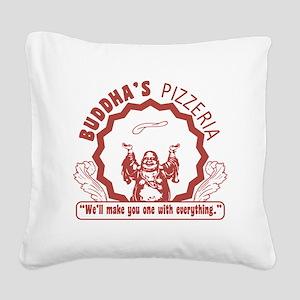 Buddhaspizza Square Canvas Pillow