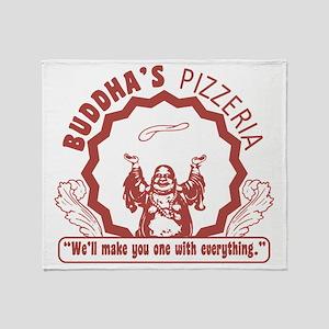 Buddhaspizza Throw Blanket