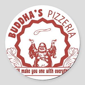 Buddhaspizza Round Car Magnet