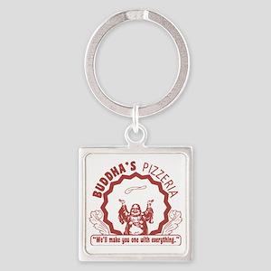 Buddhaspizza Square Keychain