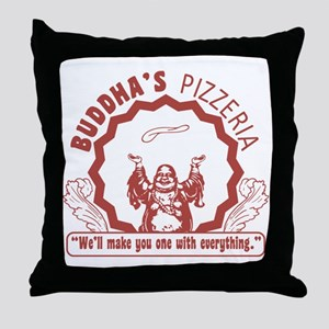 BuddhaspizzaPNG Throw Pillow