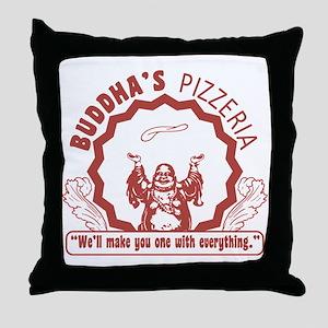 Buddhaspizza Throw Pillow