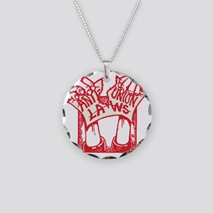 Anti-Union-Laws Necklace Circle Charm