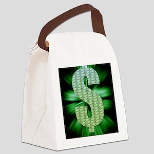 Dollar Sign Canvas Lunch Bag