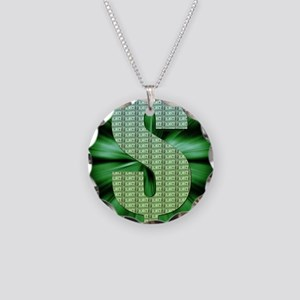 Dollar Sign Necklace Circle Charm
