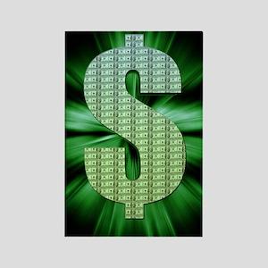 Dollar Sign Rectangle Magnet