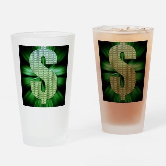 Dollar Sign Drinking Glass
