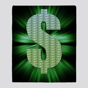 Dollar Sign Throw Blanket