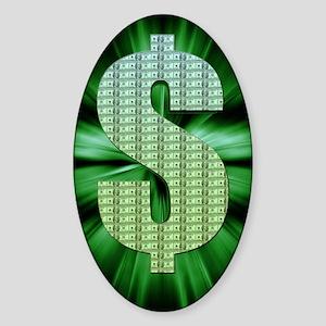 Dollar Sign Sticker (Oval)