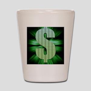 Dollar Sign Shot Glass