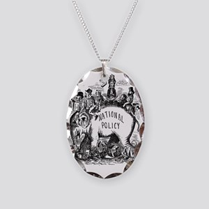 Riding_into_power Necklace Oval Charm