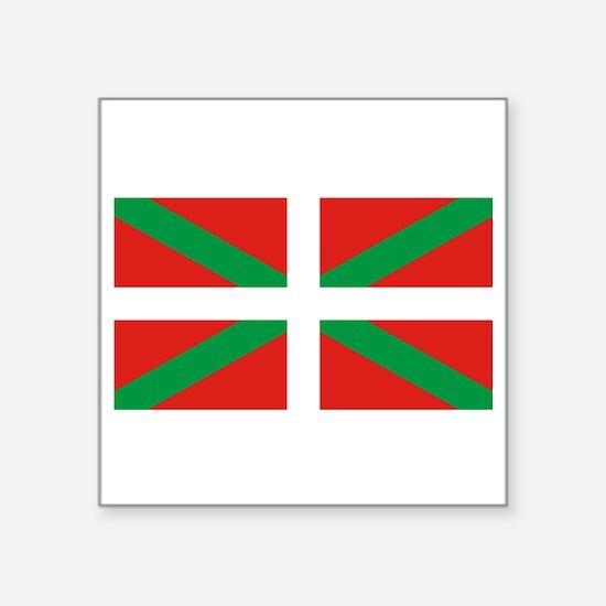 """Basque_Dark Square Sticker 3"""" x 3"""""""