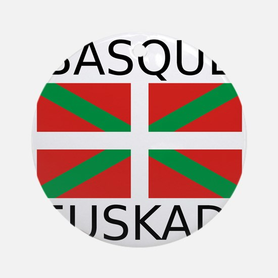 Basque Round Ornament