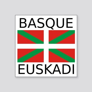 "Basque Square Sticker 3"" x 3"""