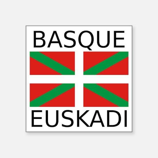 "Basque Square Sticker 3"" x 3"""