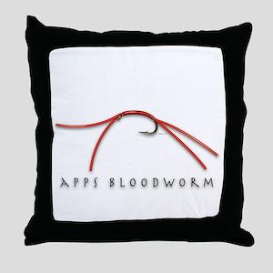 Apps Bloodworm Throw Pillow
