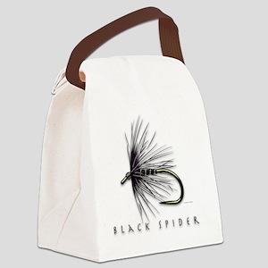 Black spider Canvas Lunch Bag