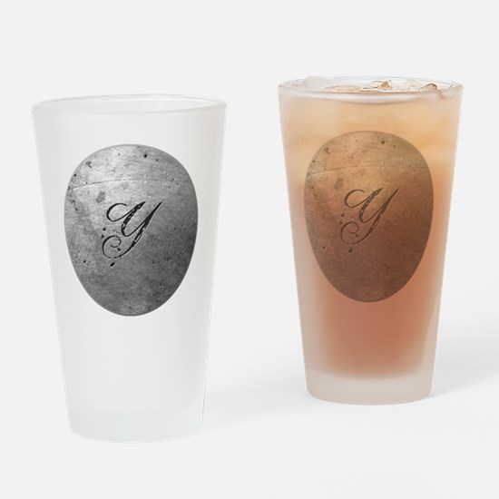 MetalSilvYneckTR Drinking Glass