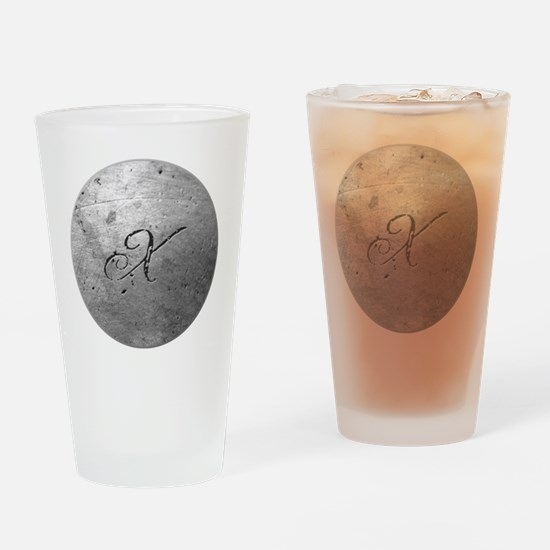 MetalSilvXneckTR Drinking Glass