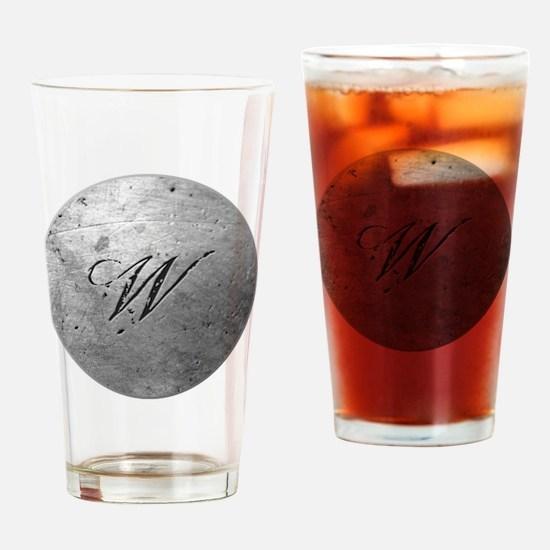 MetalSilvWneckTR Drinking Glass