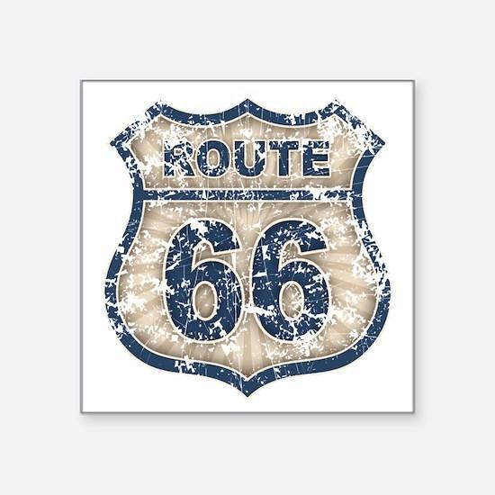"rt66-rays-T Square Sticker 3"" x 3"""