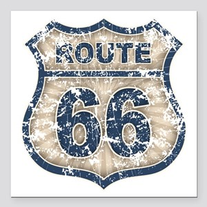 "rt66-rays-T Square Car Magnet 3"" x 3"""