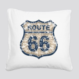 rt66-rays-T Square Canvas Pillow