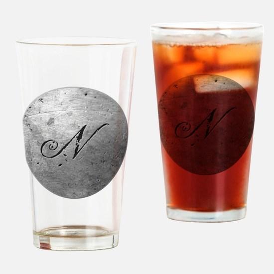 MetalSilvNneckTR Drinking Glass