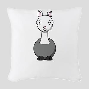 llama2 Woven Throw Pillow