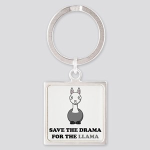 llama1 Square Keychain