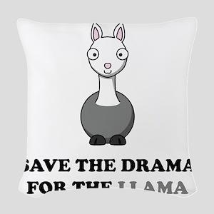 llama1 Woven Throw Pillow