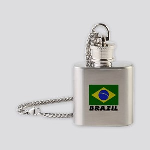 Brazil Flag (World) Flask Necklace