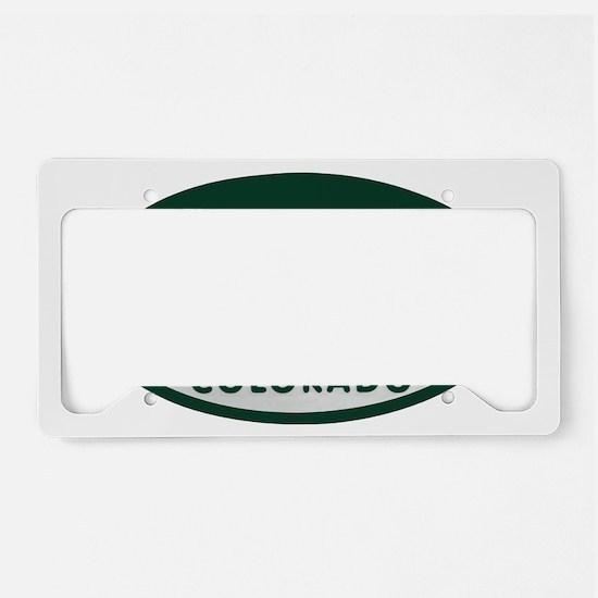 Aspen_license_oval License Plate Holder