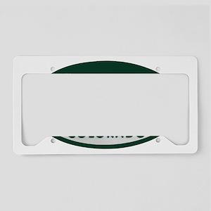 Alien_license_oval License Plate Holder