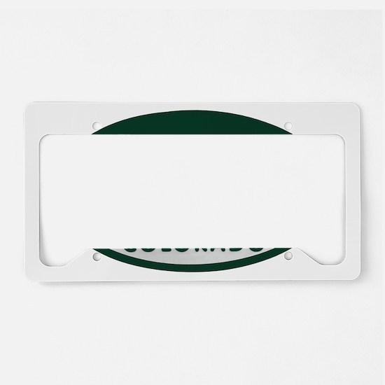 Boulder_license_oval License Plate Holder