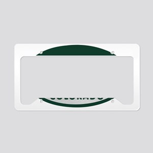 Colo_Spgs_license_oval License Plate Holder