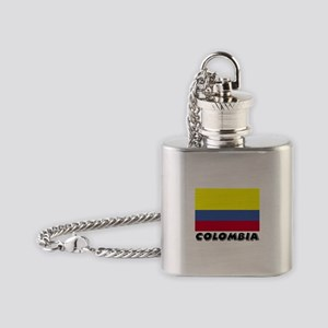 Colombia Flag (World) Flask Necklace