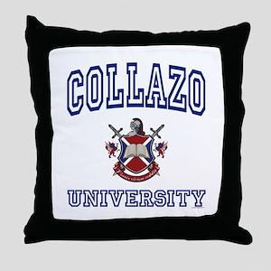 COLLAZO University Throw Pillow