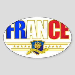 France Outline Sticker (Oval)
