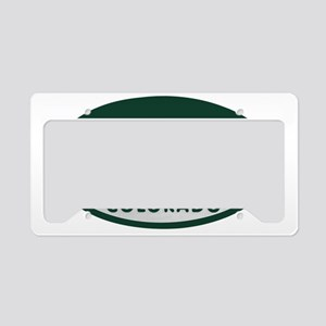 Colorful_license_oval License Plate Holder