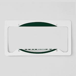 Denver_license_oval License Plate Holder