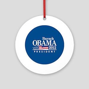 Obama 2012 Button Round Ornament