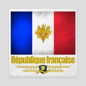 French Flag-Emblem (Flag 10) Queen Duvet