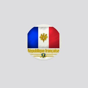 French Flag-Emblem (Flag 10) Mini Button