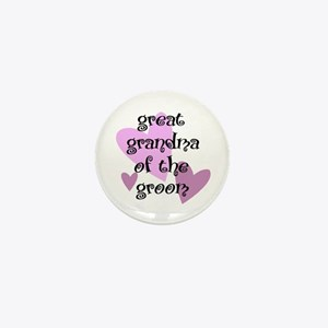Great Grandma of the Groom Mini Button