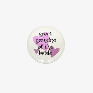 Great Grandma of the Bride Mini Button