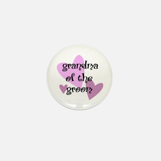 Grandma of the Groom Mini Button