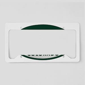 Steamboat_license_oval License Plate Holder